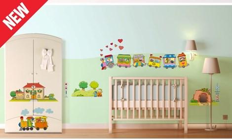 Camerette per bambini a tema gioco leostickers - Decorazioni murali per camerette bambini ...